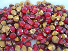 Full pack of 288 Czech. firepolished rhinestones in 29ss  Lt. Siam Ruby/foiled.