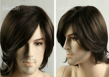 COS WIG New Fashion Male Brown Wig Fashion Men's Hair Wig