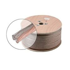 Eagle 500' FT 14 AWG GA Clear Speaker Cable Wire 2 Conductor Stranded Copper