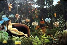 "Henri Rousseau The Dream Giclee Canvas Print size 24""x36"""