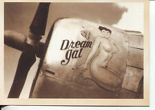 POST CARD OF A WORLD WAR II BOMBER WITH DREAM GAL PAINTED ON HER SIDE