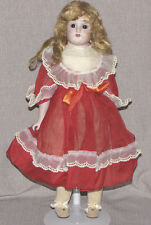 "18"" Bisque Shoulder Head Doll Closed Mouth Dep S 154 Reproduction Leipsdorf"