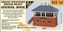 Ratio 552 GWR Brick Built Signal Box 00 Gauge Plastic Kit - Tracked 48 Post