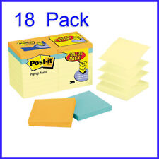 [No Tax]   Post-it Pop-Up Notes, Canary Yellow, 3 x 3, 18-pack