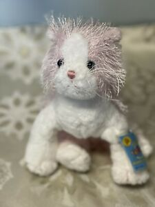 GANZ Webkinz Plush Stuffed Animal Pink And White Cat w/ Sealed Code Tag #HM189