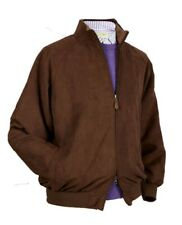 Donald Ross Golf men's CLUB JACKET brown faux suede XL NEW wind water resistant