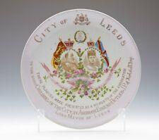 ANTIQUE CITY OF LEEDS KING EDWARD VII CORONATION PLAQUE 1902
