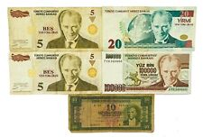 Kemal ₺ Turkish Lira  Turkey Collections, Lots of 5 Banknotes Auction From 1$