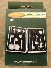 STONFO TRAVEL TOOL SET for FLY TYING. 8 PREMIUM TOOLS W/ CASE. New MADE IN ITALY
