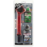 Finish Line Starter Kit 1-2-3 - Grunge Brush w / 4 oz degreaser & 2 oz lube
