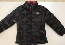 Girls North Face Down jacket size 7/8 Black with Pink