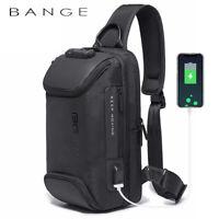 Bange Men Shoulder Sling Bags CrossBody Anti Theft with USB Waterproof Fashion