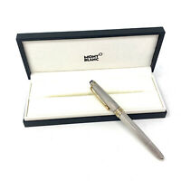 Vintage MONTBLANC Meisterstück Solitaire Sterling Silver Barley Ball Point Pen