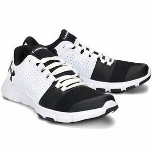 Men's Under Armour UA Strive 7 White / Black Training Shoes Trainers UK 8 - 13