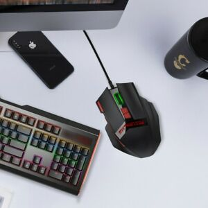 10Buttons USB Wired Gaming Mouse with RGB Light Weight Tuning for Desktop Laptop