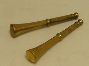 (ref288BI) Pair of Vintage Brass Pestles