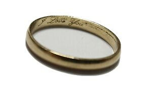9ct gold plain ring