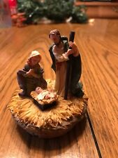 "Candle Jar Topper Nativity Scene Home Interiors Homco 2"" Yankee Candle"