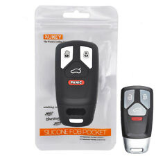 Silicone Key Case For Audi A4 A5 S5 Q5 Q7 TT Remote Fob Cover Shell 2018 2019