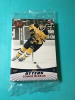 CONNOR McDAVID RARE ROOKIE 2014 CHOICE ERIE OTTERS ROOKIE SEALED TEAM SET Ding