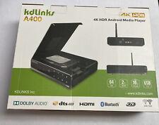 KDLINKS A400 Android Quad Core 4K 3D Smart H.265 Hd Tv Media Player Com Hdd