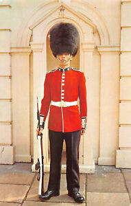 R301040 Irish Guard Standing at Clarence House. Postcard