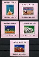 Space Raumfahrt 1976 Obervolta Upper Volta Viking 632-636 Deluxe Blocks MNH/1203