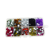 1 Box Assorted Mix Faceted Acrylic Rhinestones Flat Back Jewelry Accessories