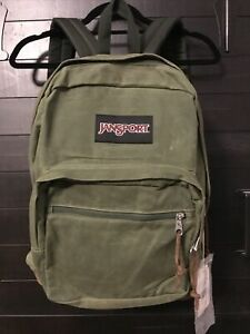 JANSPORT Right Pack Expressions New Olive Canvas Backpack