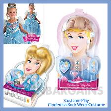 Disney Princess Cinderella Book Week Character Costume Wig Jewellery Make-up Set
