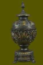 Centerpiece Urn Flower Art Deco Style Art Nouveau Style Bronze Sculpture Figure