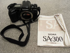 SIGMA SA 300 SA300 Camera Body ONLY -Vintage 35 mm film 35mm VGC WITH STRAP+INST