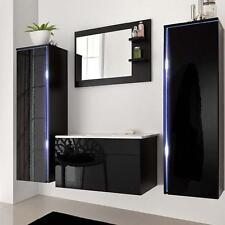 Badmöbel Sylt LED Badezimmermöbel Badezimmer Waschbecken Waschtisch Spiegel Set