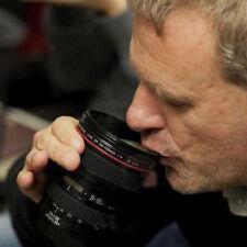 400ml Black SLR Camera Lens Design Cup Coffee Tea Mug Plastic Juice Cup Gift
