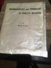 Braking Cars-'Improvements & Problems in Today's Braking-Mr J H Pearce 1963-Rare