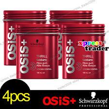 4x Schwarzkopf OSIS+ THRILL Fibre Elastic Gum Strong Control Hair Styling 100ml