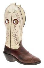 OLATHE Cowboy Boots 6 D Mens BUCKAROO Saddle Oiled Leather Roughstock USA VTG