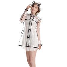 Hip Length Button Raincoats for Women