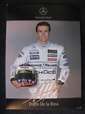 Card Pedro De La Rosa (ESP) McLaren Mercedes Formula 1 Team 2006 (MBC)