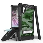 For Galaxy Note 9 10 10+ Tri Shield Design Armor Rugged Kickstand Cover Case