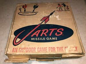 """JARTS Lawn Darts Missile Yard Game Box  """"Box Only"""" 1960's Lawn Game (Box Only)"""