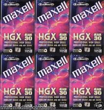 6 VIDEOCASSETTE VIDEOCASSETTA VIDEO CASSETTA VHS/C HGX 30 MAXELL NUOVE IMBALLATE