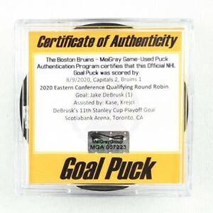2019-20 Jake DeBrusk Boston Bruins Game-Used Goal-Scored Puck -Playoff Bubble!