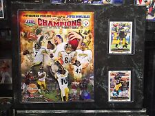 PITTSBURGH STEELER SUPER BOWL CHAMPIONS 12x15 PLAQUE 8X1O PHOTO 2 CARDS BEN TROY