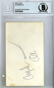 Muhammad Ali Authentic Autographed Signed 3x5 Index Card Vintage Beckett 9769350