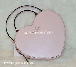 💚 Kate Spade Heart Crossbody Love Shack 3D Pink Leather Valentines Day Bag NWT