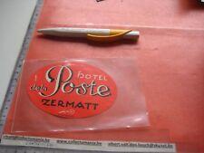 1 hotel labels luggage Koffer Kleber Switserland Suisse Schweiz, BRÜger Meinigen