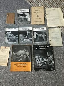 South Bend Lathe Indiana U S A Works Catalogs Etc & Receipt From 1945 As Found