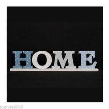 Figuras decorativas de color principal azul de madera para el hogar