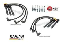 For Audi A4 VW Passat V6 Set of 2 Spark Plug Wire Sets with 6 NGK Spark Plugs